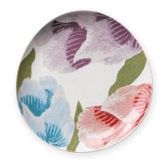 "Diane Von Furstenberg Home ""Floral Batik"" dessert plate, $18. Bloomingdales, Lenox Square, 3393 Peachtree Rd. NE, Atlanta 30326. (404) 495-2800; bloomingdales.com"