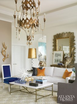 Turner enlisted a New Orleans artisan to design the show-stopping chandelier.