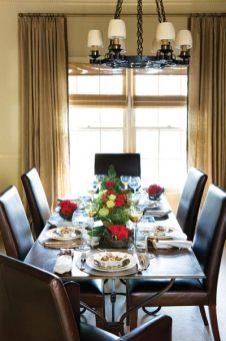 French iron dining table, Foxglove Antiques, (404) 233-0222. Burlap drapery panels, Jane Shelton fabric through Travis & Company, ADAC, (404) 237-5079. Brown-and-white transferware, Lisa Thompson & Associates, (404) 262-2253. Placemats and napkins, Erika Reade Ltd.