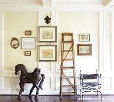 A vignette in the home of one of Morris' clients makes you think twice about what defines art.