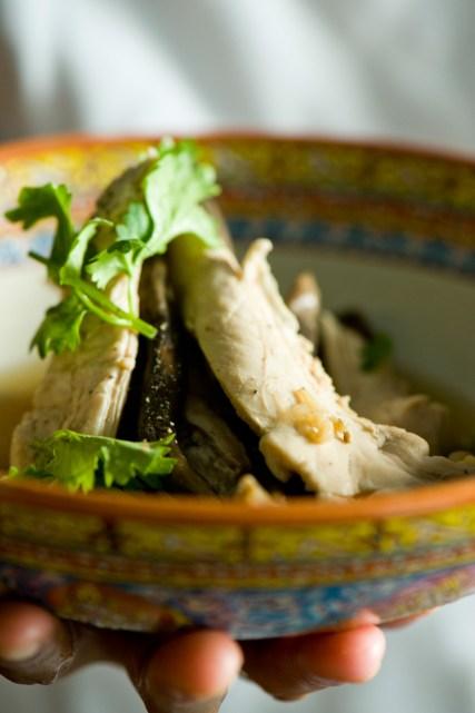 "Chicken and Thai wild mushrooms, one of Chef David Thompson""s creations at Nahm."