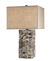 """Dufour"" table lamp made from recycled printing blocks, $735. BEE, 26 East Andrews Dr. NW, Atlanta 30305. (404) 365-9858; bee-atlanta.com"