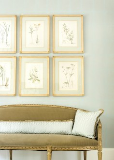 24) Liz Williams amassed a collection of antique botanicals for a soothing Ansley Park dining room.