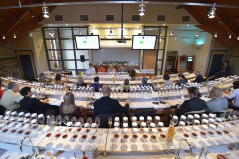 Guests prepare to sample some of the greatest wines in the world at the Legends of Napa Valley tasting.