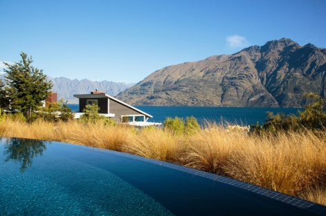 Spectacular lake and mountain views can be enjoyed from Matakauri Lodge's heated outdoor pool.