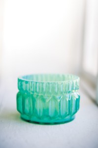 Turquoise Tealight Holder, $10. Scout, 18 East Andrews Dr. NW, Atlanta 30305. (404) 816-2325; scoutforthehome.com