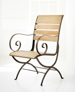 Iron garden chair, $450. Simply Home, 4209 Roswell Rd. NE, Atlanta 30342. (404) 497-9781