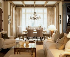53) Kelly Wolf Anthony's scheme for a living and dining area is as pure as snow.