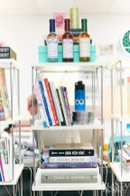 Lineweaver's office is a living inspiration board brimming with books, samples, packaging and more.