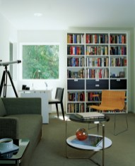 63) Order and high style are tops in this home office by Roy Otwell and Doug Henderson.