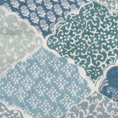 """""""Maharab"""" fabric by Lisa Fine Textiles, available through Travis & Company. Available to the trade only."""