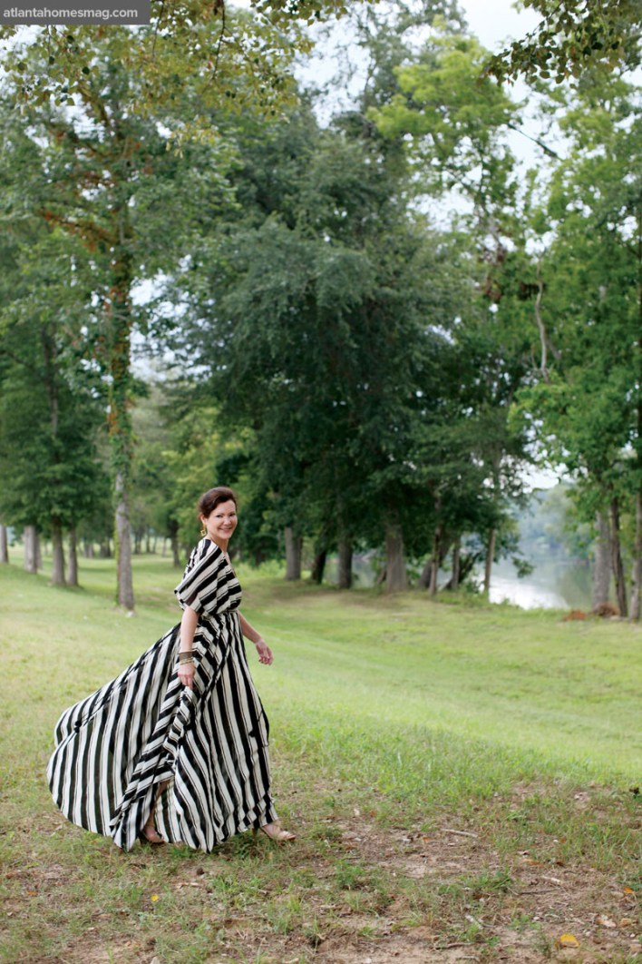 Designer Beth Webb on the grounds of Foxhall Resort & Sporting Club.