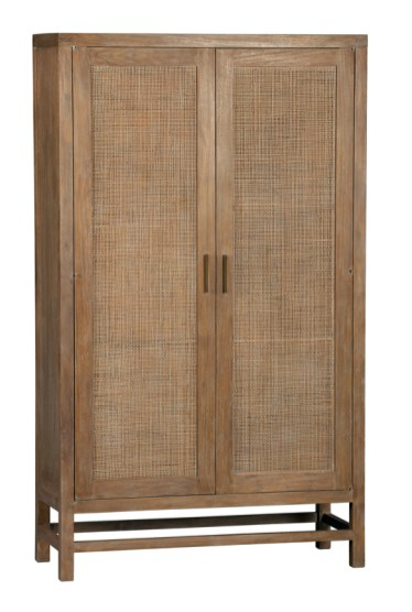 Teak two-door cabinet, $1,199. Crate & Barrel