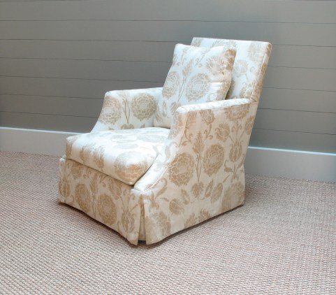 """Boleyn"" skirted chair, $1,790. Bungalow Classic"