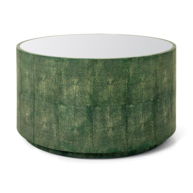 "Faux shagreen ""Cara"" cocktail table, $1,425. Bungalow Classic"