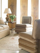 Slipper chairs from Carithers' furniture collection with Sherrill Furniture. PHOTOGRAPHY BY SHERRILL FURNITURE