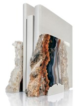 """Fim"" agate bookends, $195 for the pair. Available at The Mercantile"