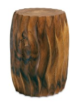 hardwood fluted carved stool, $299. Room & Board, 1170 Howell Mill Rd. NW, Atlanta 30318. (404) 682-5900; roomandboard.com