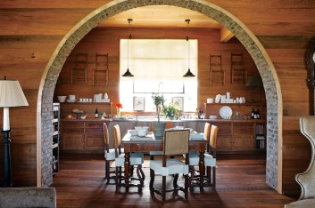 86) Keith Summerour's Towerhouse Farm includes an eat-in kitchen for large gatherings.