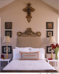 26) Henri Jova's bed in Palm Beach County is surrounded by objects and mementos of personal importance.