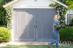Even a storage garage is pleasing to the eye on this rambling Chamblee property.