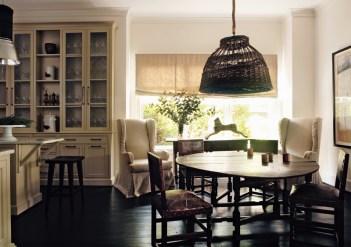 43) Kay Douglass' breakfast room is a model of striking simplicity.