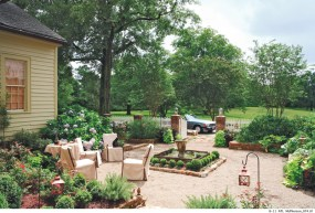 80) Jamie McPherson's kitchen garden is treated with as much care as any indoor space.