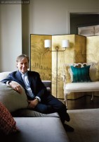 """For this home at The Mansion on Peachtree, designer John Oetgen created an elegant atmosphere, with a touch of his trademark """"whimsy"""" thrown in."""