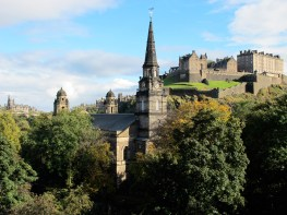 Journeys on The Royal Scotsman begin and end in Edinburgh, which features both medieval and neoclassical architecture.