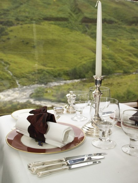 Dining on The Royal Scotsman includes a mix of formal and informal meals.