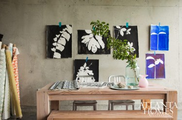 His loft's concrete backdrop becomes a gallery wall (and litmus test) for his latest designs.