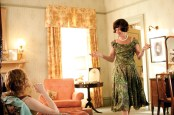 """The film was shot on location in Greenwood and Jackson, Mississippi. Actresses Allison Janney and Emma Stonein a bedroom at the home of Stone""""s character, Skeeter."""