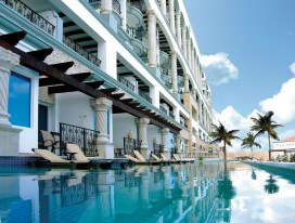 Accommodations ranging from junior suites to beachfront, swim-up master suites with private poolsâ