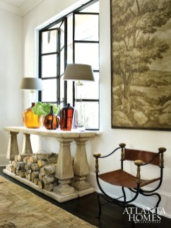 Designer Amy Morris and architect Greg Palmer imparted a time-honed look on the new home.