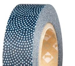 "Washi Masking Tape ""Samekomon Ai & Beni"" in navy, $11.50. Available at Paper Source, 1052 N. Highland Ave. NE, Suite 54. Atlanta 30306. (404) 575-4400; paper-source.com"