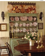 74) This dining area by Wendy Meredith is the essence of American style.