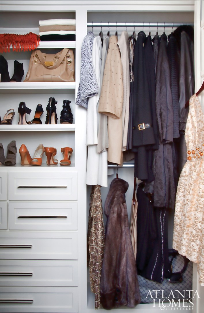 Designed by Janus Associates, the closet is as immaculately curated as the rest of the home.