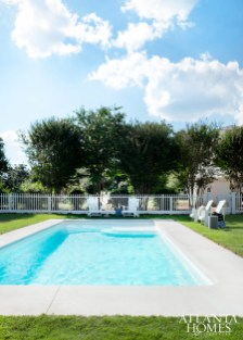 A fiberglass-insert pool is perfect for a quick dip on high summer days.