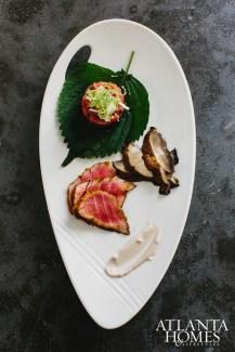 Seared tuna and tuna tartare.
