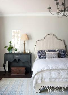 Tish Mills cultivated a soft and transitional guest suite that's as eye-catching as it is serene.