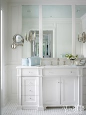 A clean-lined and serene bathroom is the result of a collaboration between Jackye Lanham and Bill Litchfield.
