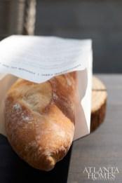 Menus were printed on baguette bags.