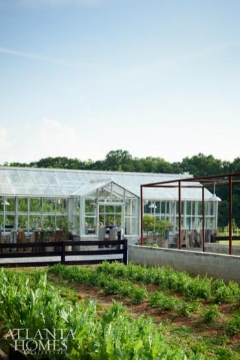 The 60-acre farm of Atlanta restaurateurs Anne Quatrano and Clifford Harrison.