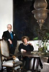 """Bobby McAlpine and Susan Ferrier incorporated beauty, sanctuary and """"a bit of theater"""" into their new office inside ADAC. The chandelier was originally purchased for a client in Morocco; after a hurricane blew it to the ground, Ferrier enlisted Charles Calhoun to restore it."""