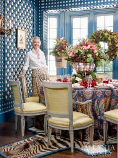 Rollins personalizes her holiday table with her signature blend of high and low, new and nostalgic and a bit of whimsy.