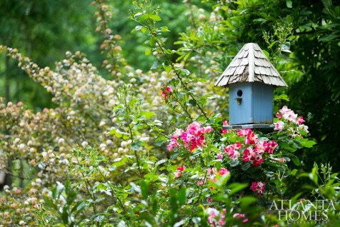 A bird house by Lazy Hill Farm.