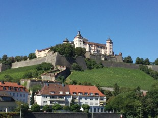 Marienberg Fortress and surrounding vineyards in Würzburg.