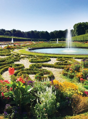 Exquisite gardens on the grounds of Augustusburg Palace in Brühl