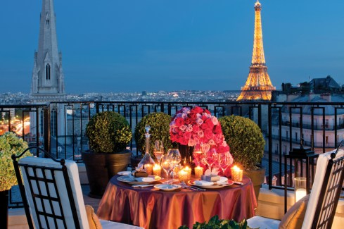 Penthouse view from Four Seasons Hotels George V, Paris