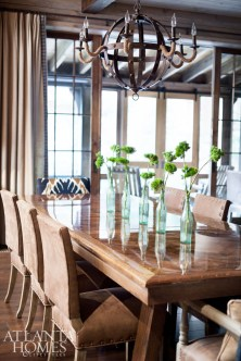 Brad King also created the large dining room table, made from an old oak tree on the property.